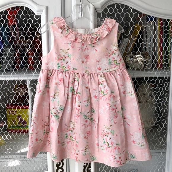 efea53c53bf5f MAYORAL PINK FLORAL PRINT BABY GIRL DRESS 18m
